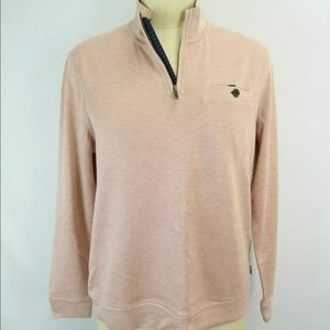 Ted Baker Dusty Pink  Sz 5 Funnel Neck Half-Zip 14